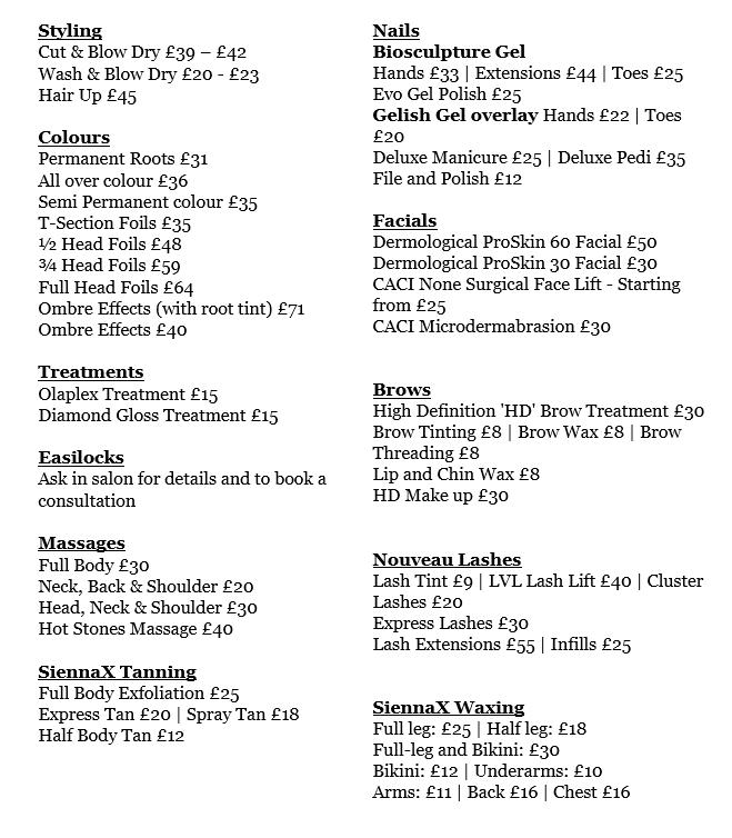 Prices.